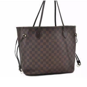 Louis Vuitton damier brown ebene neverfull mm